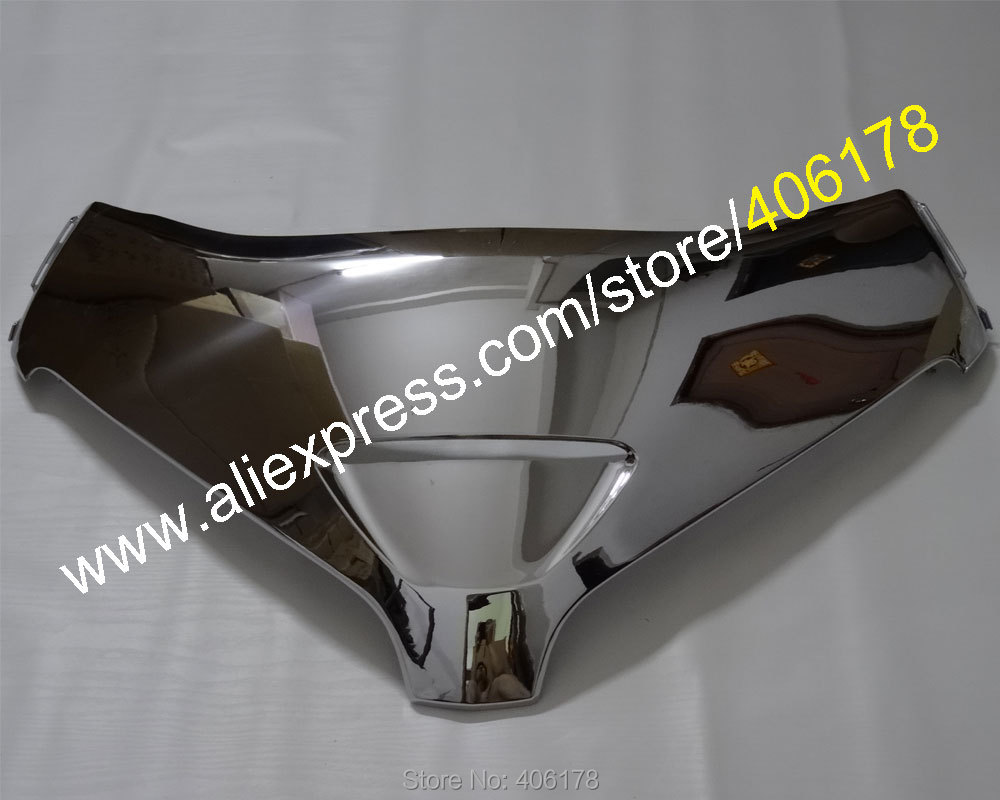 Hot Sales,Goldwing GL1800 Chrome Parts For Honda GoldWing GL 1800 2001-2011 Head Front Windshield Panel Fairing Motorbike Cover front fender rear half for honda gl1800 goldwing 2001 2011 2002 2003 2005 2009