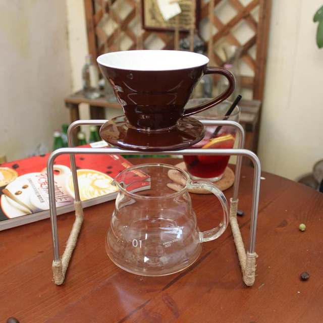 8e0ab62d75a Brew station Pour over coffee maker dripper with stand and server DIY set  of 3 hand drip set stainless steel coffee holder