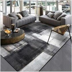 AOVOLL prosty nowoczesny abstrakcyjny chiński atrament czarny szary dywan drzwi do sypialni i kuchni mata salon mata podłogowa do pokoju dywan dywan sypialnia w Dywany od Dom i ogród na