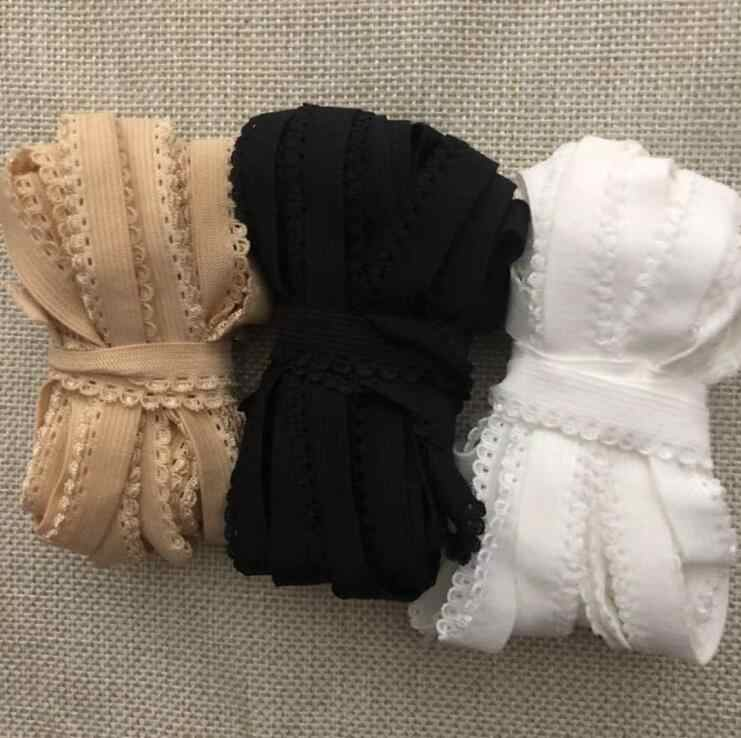 5 Meters Elastic Black White Skin Lace Trim Lace Ribbon Band For Sewing Crafts Underwear Decoration Lace Handmade Accessory DIY