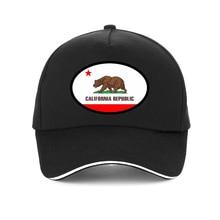 California Mesh Trucker Cap Men Bear Republic Flag hat men Women New United States state flagsBaseball Summer