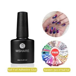 MSHARE Nail Foil Adhesive Tran