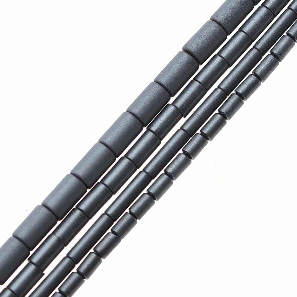AAA Natürliche Stein Hämatit Perlen Matt Zylinder form Lose perlen 4/5/6/8mm für DIY halskette Armband Schmuck Machen Zubehör