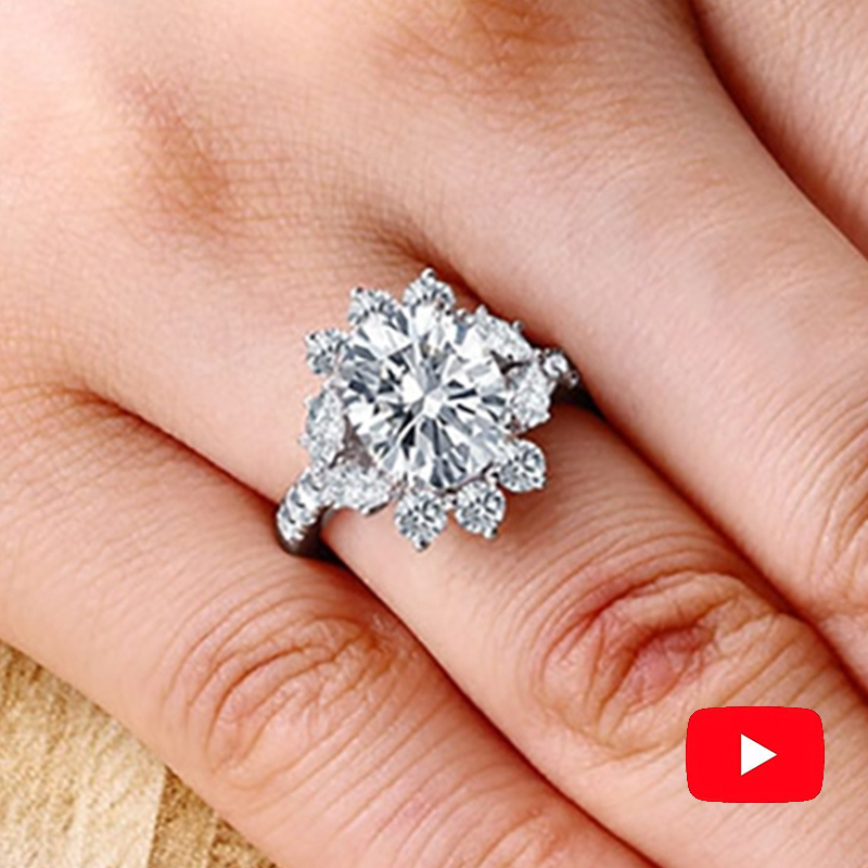Sona 9 11mm NOT FAKE Fine Engraving Ring S925 Sterling silver Diamond Custom ring Original Design