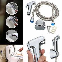 Toilet Shattaf Adapter Spray Handheld Bidet Shower Head Wall Bracket Hose Kit XG