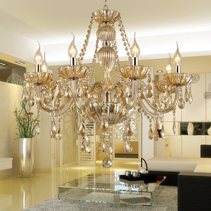 Lustre de Cristal Chandeliers Modern Crystal Chandelier Indoor Lamp Hotel Hall Lights Lustre de Cristal Lustres