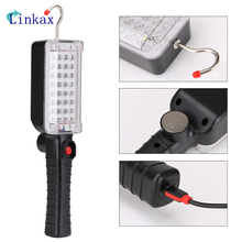 34 LEDS Work Light USB Rechargeable Flashlight with Magnetic Hook Light for Outdoor Camping Light Torch Built in Battery