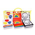 Baby infant cloth stuffed plush soft toy books early develpment toys 0-12 months