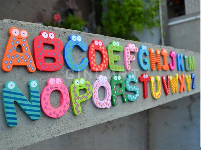 Lettere Di Legno Colorate : Legno giocattolo intelligente magnetico lettere inglesi blocco