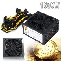 GPU Miner Case 1600W Computer PC Power Supply For ATX Mining Machine Bitcoin Miners Support 6