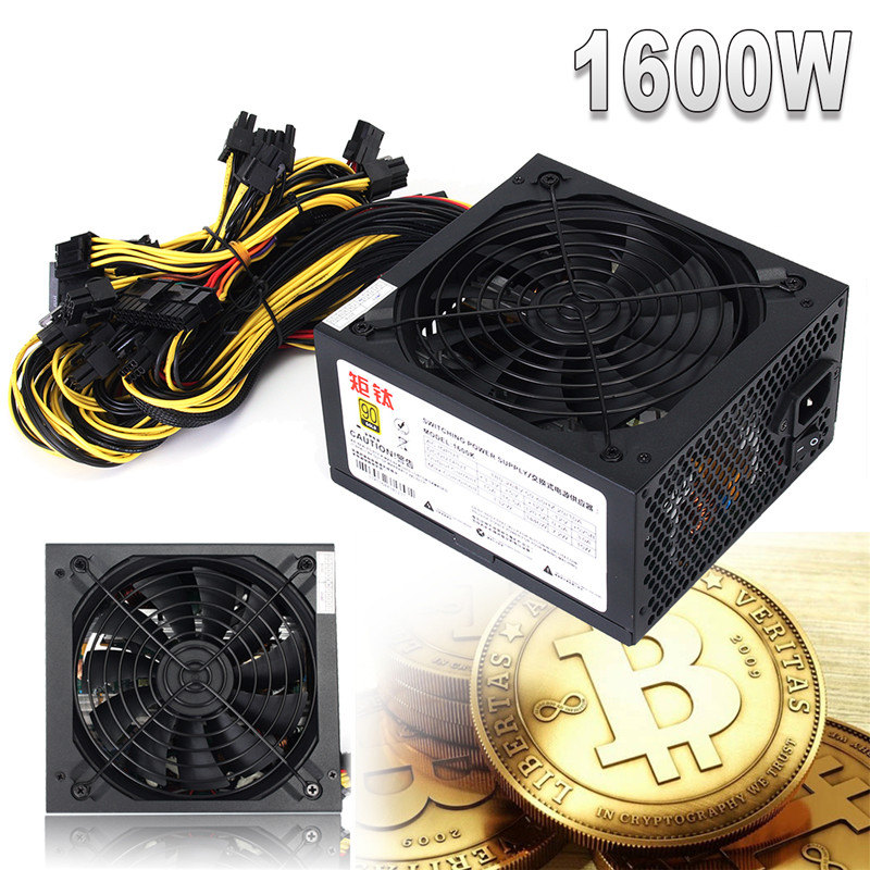 GPU Miner Case 1600W Computer PC Power Supply For ATX Mining Machine Bitcoin Miners Support 6 Graphics Card Mining Power цены онлайн