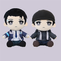 Detroit: Become Human RK800 Connor Doll Birthday Gift Anime Game TOY Plush Cosplay Prop 30cm