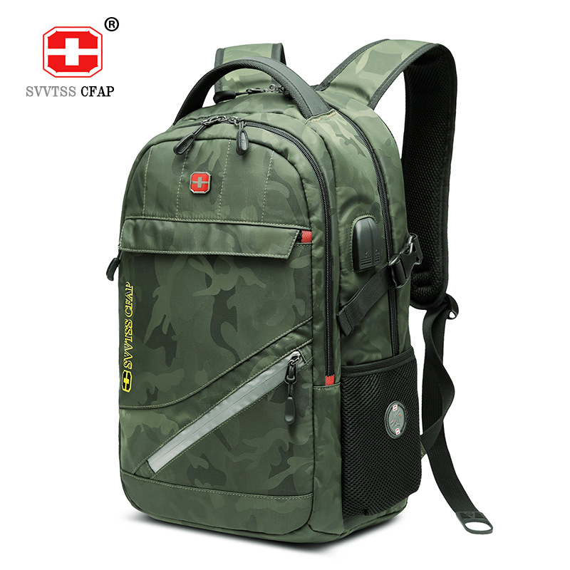 17 Inch Laptop Backpack male USB Waterproof Travel Camouflage 17.3 Back Pack  for Men Back Bag Large Capacity Bagpack Mochila-in Backpacks from Luggage  ... 3e55f60f4d9ad