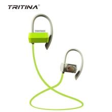 2016 Tritina FLYBEATSไมโครโฟนหูฟังไร้สายกีฬาหูฟังเหงื่อหลักฐานบลูทูธv4.1สำหรับiPhone A Ndroidมือถือโทรศัพท์