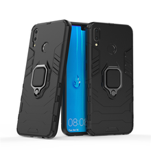все цены на For Huawei Mate 20 Pro Case Finger Ring Kickstand Hard Case For Huawei Mate 20 Lite Pro P20 Lite P smart Plus Honor 8X 6X Y9 Y6