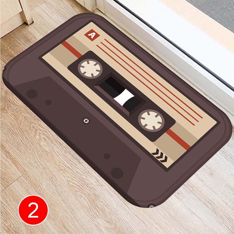 Audio Tape Pattern Floor Mat Carpets Floor Rug Kitchen Living Bathroom Non-slip Backing LXY9 OC09 floor