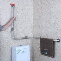 Bathroom safety shatter resistant handrail barrier free bathroom toilet anti skid railing bathtub stainless steel elder armrest