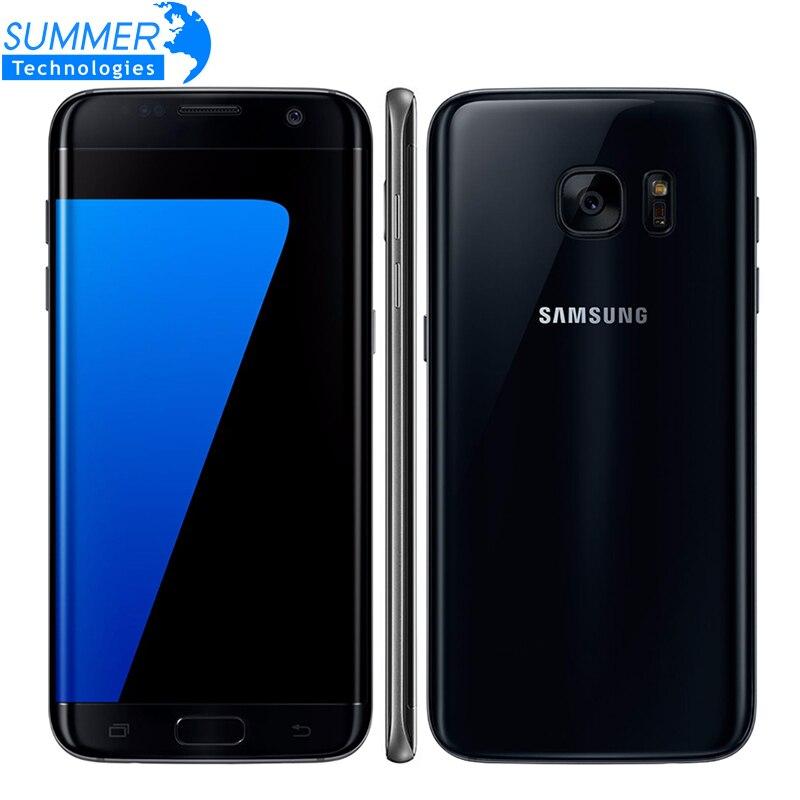 "Original Samsung Galaxy S7 Edge Android Mobile Phone 4G LTE 5.5"" 12MP 4GB RAM 32GB/64GB ROM NFC GPS Smartphone"