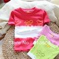 Лето младенцы одежда семья одежда дети футболки верхний девочки базовые короткий рукав футболки