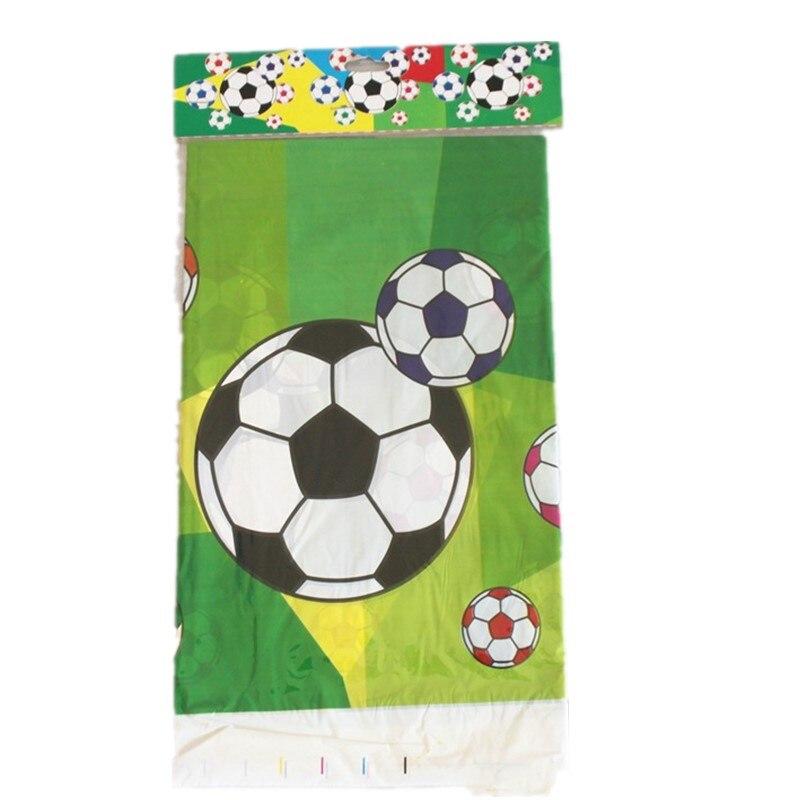 1 pcs Tema Futebol Dos Desenhos Animados Toalhas de mesa de Plástico Crianças Bebê Chuveiro Decoração Fontes do Partido Feliz Aniversário Para O Menino Presente Da Menina