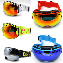 Ski Glasses Double Lens UV400 Anti-fog Ski Goggles Snow Skiing Snowboard Motocross Goggles Ski Masks or Eyewear For Men Women