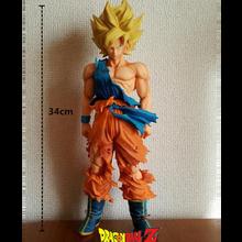Japanese Anime Dragon Ball PVC Model Saiya Son Goku Big Size 34 cm Adult Action Figures High Quality Garage Kid For Kids Sale