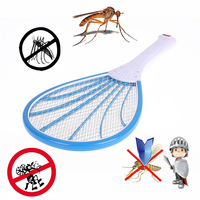 Rechargeable Electric Mosquito Swatter Household Pest Control LED Home Garden Insect Bug Bat Wasp Zapper Fly