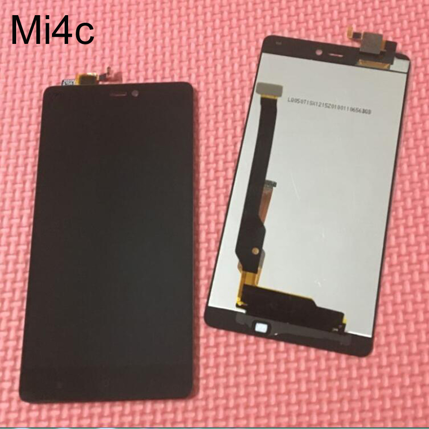 Pantalla lcd táctil digitalizador asamblea negro mejor trabajo para xiaomi mi4c