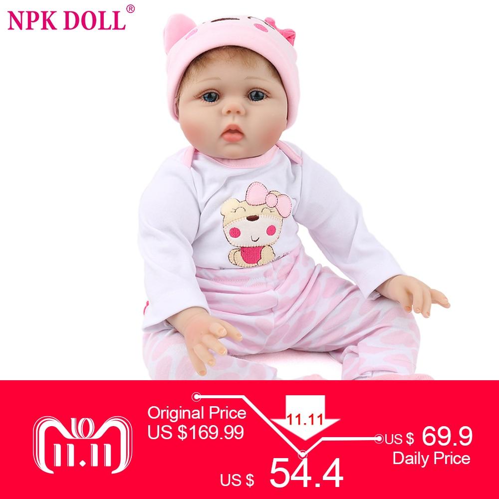NPKDOLL 55cm Soft Silicone Doll Reborn Baby 22