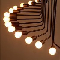 Retro Iron Spiral Cafe pendant lights personality reative 16/ 26 heads Garment Shop Light Industrial Wind Loft lamp GY81 t10