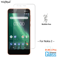 2Pcs Screen Protector For Glass Nokia 2 Tempered Glass For Nokia 2 Glass Protective Phone Film For Nokia2 Glass WolfRule