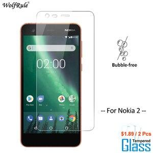 Image 1 - 2Pcs מסך מגן זכוכית נוקיה 2 מזג זכוכית עבור Nokia 2 זכוכית מגן טלפון סרט עבור Nokia2 זכוכית wolfRule