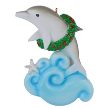 Dophin Resin Shiny Christmas Tree Ornaments Hand Painted and Easily Personalized For Gifts Party Home Decoration