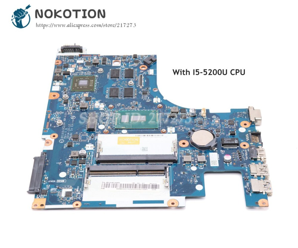 NOKOTION Logic Board For Lenovo Ideapad G50-80 PC Motherboard ACLU3 ACLU4 <font><b>NM</b></font>-<font><b>A361</b></font> Main Board I5-5200U CPU R5 M330 graphics image