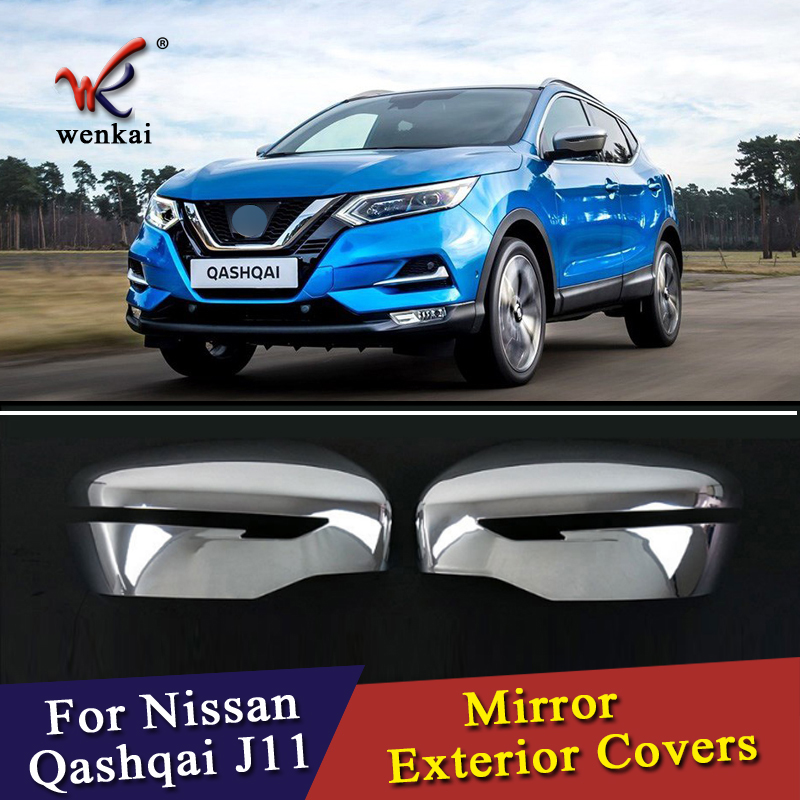 WK For Nissan Qashqai J11 Rogue X Trail T32 2014 2015 2016 2017 Car Chrome Styling Rearview Mirror Exterior Covers Accessories for nissan qashqai car chrome styling chrome car styling - title=