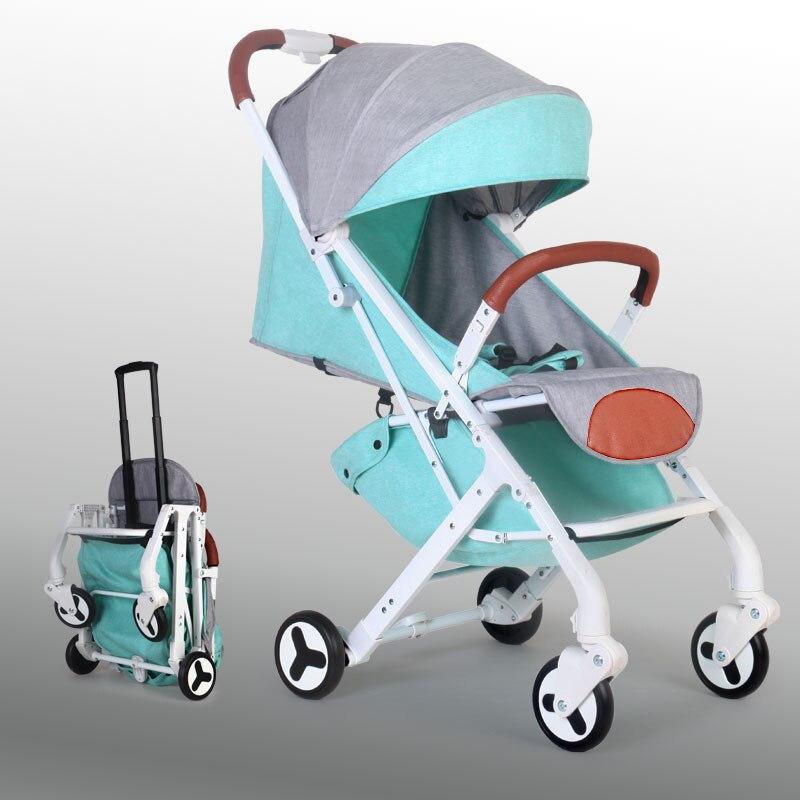 Poussette bébé poussette pour poupées bébé buggy landau poussette brouette enfants landau pliant lumière enfant poussette