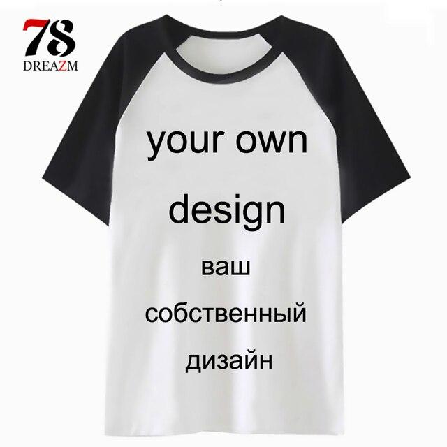 Camisa personalizada de t logotipo Imagem de impressão Seu próprio Projeto de Manga Curta DIY T-shirt Feito Sob Encomenda Dos Homens/mulheres Tshirt para o Sexo Masculino /feminino