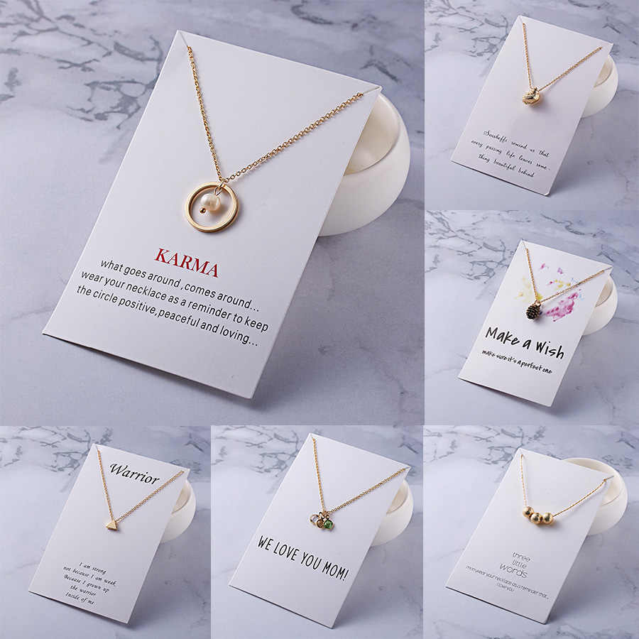 With Card Alloy Circle Ball Stars Necklace Infinity Love Horse Gold-color Shorts Clavicle Chains Fashion Necklaces & Pendants