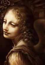 The Angel by Leonardo Da Vinci Handpainted