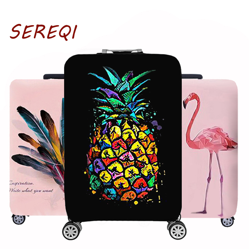 Luggage Case Suitcase Protective Cover Thicker Travel Travel Accessories Elastic Luggage Dust Cover Apply to 18''-32'' Suitcase 1