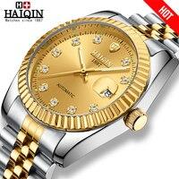 Haiqin relógios masculinos mecânicos dos homens relógios de luxo da marca superior relógio masculino vestido de ouro relógio de pulso masculino reloj mecanico de hombres novo|Relógios mecânicos| |  -