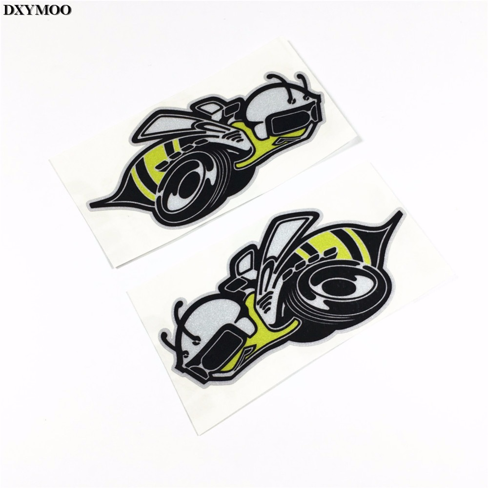 Big bike sticker design - 1pair Car Styling Motorcycle Helmet Bike Sticker Car Sticker Decals For Giant Trailer Bees China