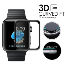 3D Curved Full Coverage Tempered Glass Protective Film For iwatch Apple Watch Series 1/2/3 38mm 42mm Full Screen Protector Cover 3d curved soft edge tempered glass screen protective film for apple watch band series 1 2 3 38mm 42mm screen protector cover