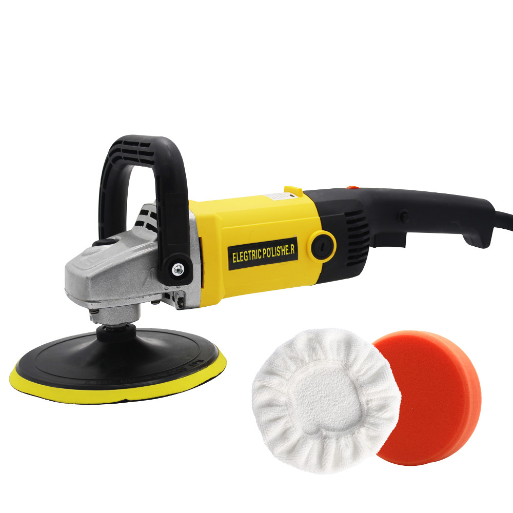 220V High Speed Car Polisher 6 Variable Speed 1200W High Power Car polisher For Car Paint Care Polishing Waxing Free Pad Bonnet