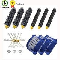 Aero Vac Filter Bristle Brush Flexible Beater Brush Side Brush Pack Kit For IRobot Roomba 600