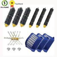 Aero Vac Filter Bristle Brush Flexible Beater Brush Side Brush Pack Kit For IRobot Roomba 600