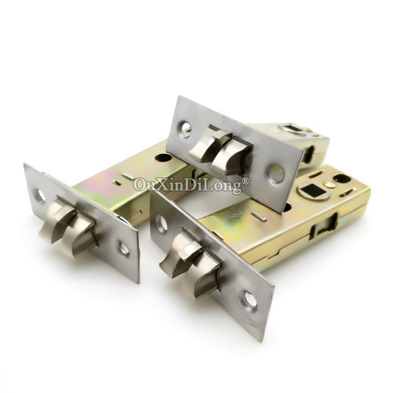 HOT 10Pieces European Mortise Locks Lock Body Anti-theft Lock Cylinder Door Lock Repair Parts Center Distance 50mm/60mm/70mm