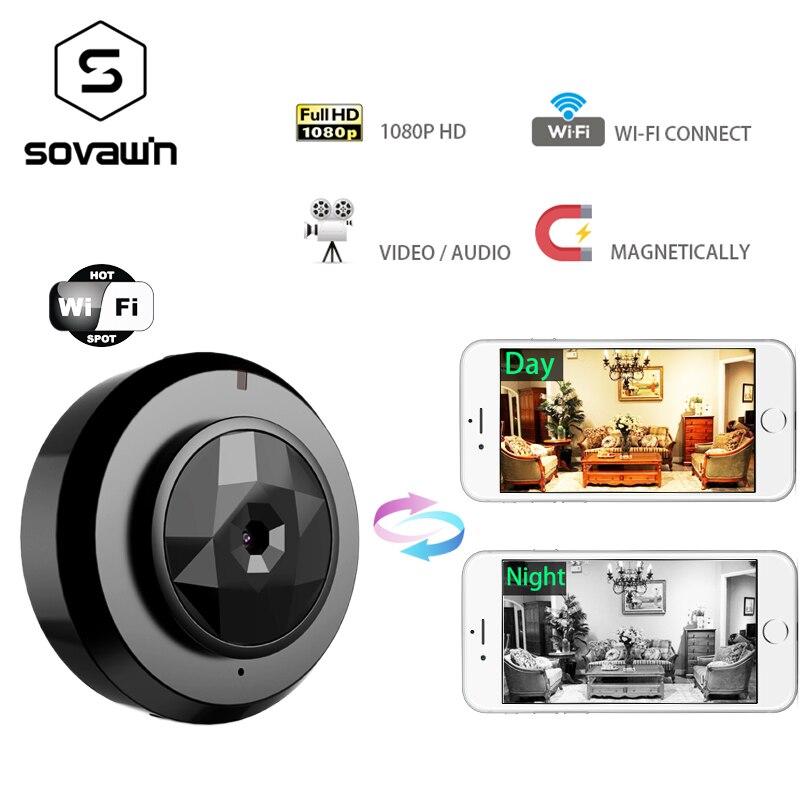 Мини камера wi fi 1080 p IP Открытый ночное видение Android беспроводной небольшой автомобиль видеокамера с обнаружением движения HD Спорт портативн...