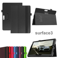 New 2 Folder Luxury Magnetic Folio Stand Leather Case Protective Cover For Microsoft Surface3 Surface RT