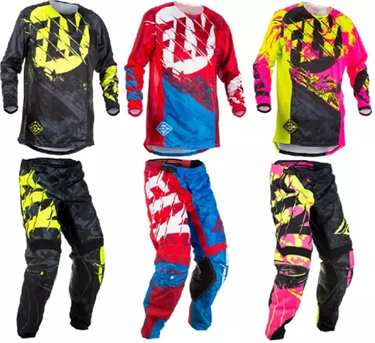 2018 New Fit For FLY Racing Motocross Suit Motobiker Racing Riding Jersey+Pants Motorcycle MX ATV Dirt Bike sets